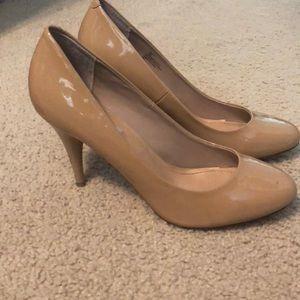 Steve Madden Patent Leather Nude Heel
